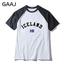 Iceland Flag Man & Women Unisex T-Shirt Tops Tees Fashion Print Letter Long Slevee T Shirt Men O Neck Printed New Cotton  Casual