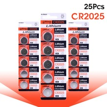 YCDC 2017 Promotion Hot selling 25Pcs 3V Lithium Coin Cells Button Battery CR2025 BR2025 DL2025 KCR2025 2025 L12 EE6279 51% off
