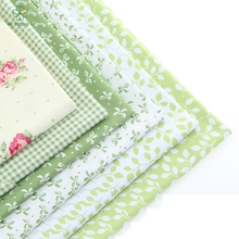 Hot Green Series floral cotton Patchwork Hand Textile pattern stitching fabric for doll clothing bags 40x50cm A2-6-1(China)