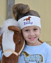 Personalized name and graphic Embroidered Headbands birthday New Year Christmas party gifts kids custom headwear