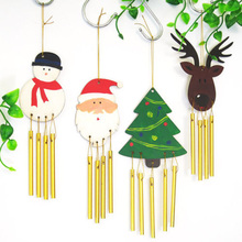 Eco Friendly DIY Wood Chime Christmas Decorations Gifts For Kids Home Christmas Party Decorations Xmas Tree Ornament Kids Gift(China)