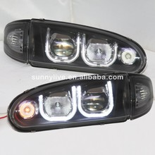 For Proton for Wira LED Headlight Black Housing U style 1992-up year Right Hand Driving YZ