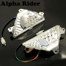 Clear Front Turn Signals Blinker Indicator Lens LED Light Lamps for 2013-2015 KAWASAKI Ninja 300 300R EX300 ABS ZX6R ZX-6R ZX636