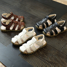 Summer Toddler Sandals High Quality PU Leather Sandale Enfant Garcon Soft Kids Shoes Cute Fashion Baby Sandals(China)