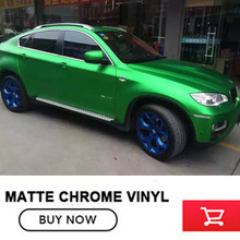 ice film greenMatte chrome vinyl wrap for fiat for bmw air release make small profits But quick turnove real picture(China)