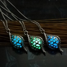 Glowing Luminous Vintage Necklaces 2017 Special Gift Steampunk Pretty Magic Conch Locket Glow In The Dark Pendant Necklace