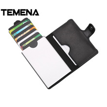 Buy Temena 2018 Men Women Business ID Credit Card Holder Metal RFID Aluminium Box Card Holders Pull Style Stacked Card Protector for $8.94 in AliExpress store