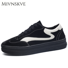 MIVNSKVE Men Casual Shoes Fashion Height Increasing Breathable Male Suede Shoes Men Flats Shoes Brand Designer Men's Sneakers(China)