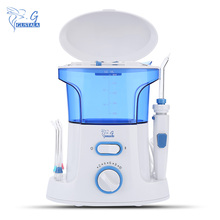 GUSTALA G168 High Quality Electric 600ml Dental Flosser Water Jet Oral Irrigator 7 Tips Household Care Teeth Cleaner Irrigators(China)