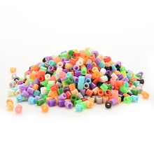 1000pcs 5mm Hama Perler Beads PE Kids Children DIY Handmaking Fuse Bead Intelligence Educational diy toys Craft(China)