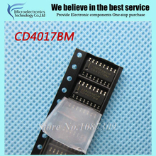 10pcs free shipping CD4017BM CD4017 HEF4017BT HEF4017 SOP-16 With each other Counter ICs S Decade Counter new original(China)
