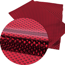 David accessories 20*34cm dot Synthetic leather fabric for hair bow diy decoration crafts 1piece, DIY handmade materials,1Yc2771(China)