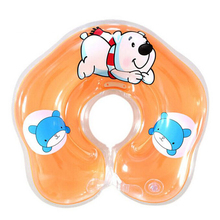 Adjustable Kid's Swimming Rings Inflatable Circle New Born Infant Swimming Neck Baby Swim Float Ring Safety Double Protection