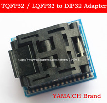 Top Quality Free shipping Universal programmer TQFP32 QFP32 LQFP32 TO DIP32 adapter socket / IC Adapter(China)