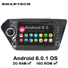 SMARTECH 2din Car Radio Video Player Quad core 2G RAM Android 6.0 Car DVD GPS Player For Kia Rio K2 2010 2011 2012 In Dash Board