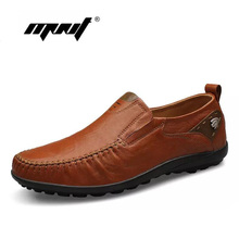Top quality men flats shoes genuine leather men shoes handmade loafers Moccasins,plus size driving shoes zapatos hombre(China)