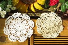 Lace HOT cotton placemat cup tea coaster pot mug holder kitchen accessory Handmade table place mat cloth round Crochet doily pad