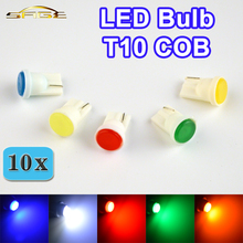 10 PCS W5W COB LED 194 T10 Car Lamp Auto Rear Light Automotive Bulb Color White / Blue / Red / Yellow / Green