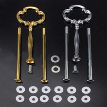 Hot Sale Multi-Style 2 Or 3 Tier Plate Handle Fitting Hardware Rod Tool Cake Plate Stand 7JRL