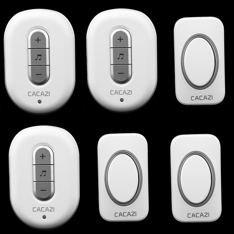 3 transmitter+3 receiver High Quality home DoorBell Waterproof 280m work range Mini Wireless Door bell 48 Ring tunes for choose<br><br>Aliexpress