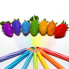 color rain bow strawberry seeds fruit Multi-color strawberries seeds flower seed garden pots & planters - 150pcs/lot