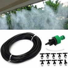 2017 1 Set Sprayer 10 Meters Water Pipe 10 Nozzles Atomizer For Courtyard Cools Down Plant Irrigation(China)