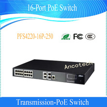 DAHUA 16-Port Two-layer network management PoE Switch for IP Camera Without Logo PFS4220-16P-250
