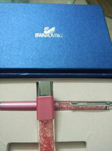 Swarovski Crystal Pen 8G Usb Disk for students Crystalline Lady Ballpoint Pen stationery(China)