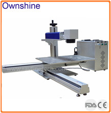 Rayfine high quality 30W raycus laser source big working area fiber laser marking machine for engraving on large workpiece(China)