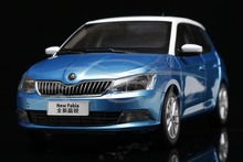 Diecast Car Model 1:18 Shanghai Volkswagen Skoda New Fabia 2015 (Blue) + SMALL GIFT!!!!!