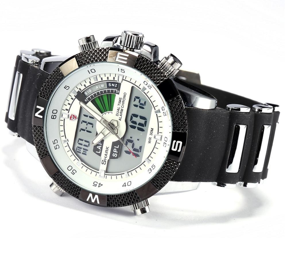 Porbeagleฉลามกีฬานาฬิกาผู้ชายกลางแจ้งแฟชั่นดิจิตอลมัลติฟังก์ชั่วันนาฬิกาจับ 18