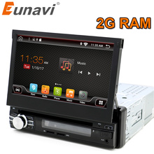 "Eunavi 2g Ram Single 1 Din 7"" Android 6.0 Car Dvd Gps Radio Stereo Universal 1024*600px Hd Head Unit With Wifi Touch Screen"