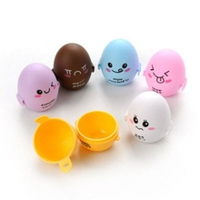 5PCS Kitchen Plastic Egg Shape Egg box plastic Round boxes Egg storage Candy Cute Box Gift Bag Party Supplies