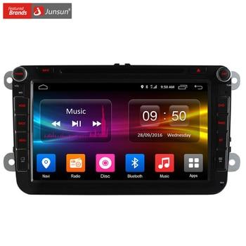 Junsun 4g sim lte nerwork coche dvd gps radio player para VW Skoda Octavia 2 Android 6.0 2G RAM WIFI 1024*600 Coche multimedia