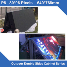 TEEHO Display LED P8 Outdoor SMD led panel 640*768mm Double Sides front open maintenance Cabinet LED display screen fixed use