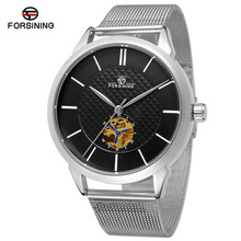 FORSINING Classic Brand Luxury Stainless Steel Mesh Belt Mens Business Watches Relogio Masculino Automatic Mechanical Wristwatch(China)