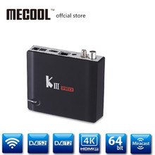 MECOOL KIII PRO satellite receiver S912 Octa Core android tv box dvb-t2 dvb-s2 3D 4K player TV tdt tuner Hybrid TV Box(China)