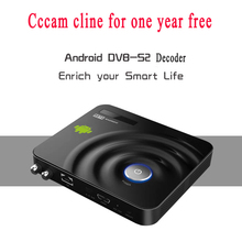 Android DVB-S2 decoder with 1 year cccam Cline Server for spain france uk germany channel Satellite Receiver support Newcam XBMC