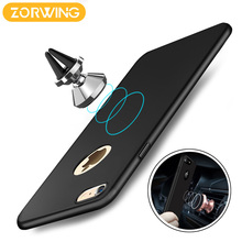 2017 Cover Case For iPhone 6 6s Plus Full Protection PC hard Case For iPhone 7 7 Plus Built in Magnetic Car Holder Metal Plate