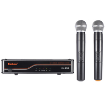 2-Channnel Handheld Wireless UHF Microphone Mic System 2 Microphones 1 Receiver XLR Output with 6.35mm Audio Cable Power Adapter(China)