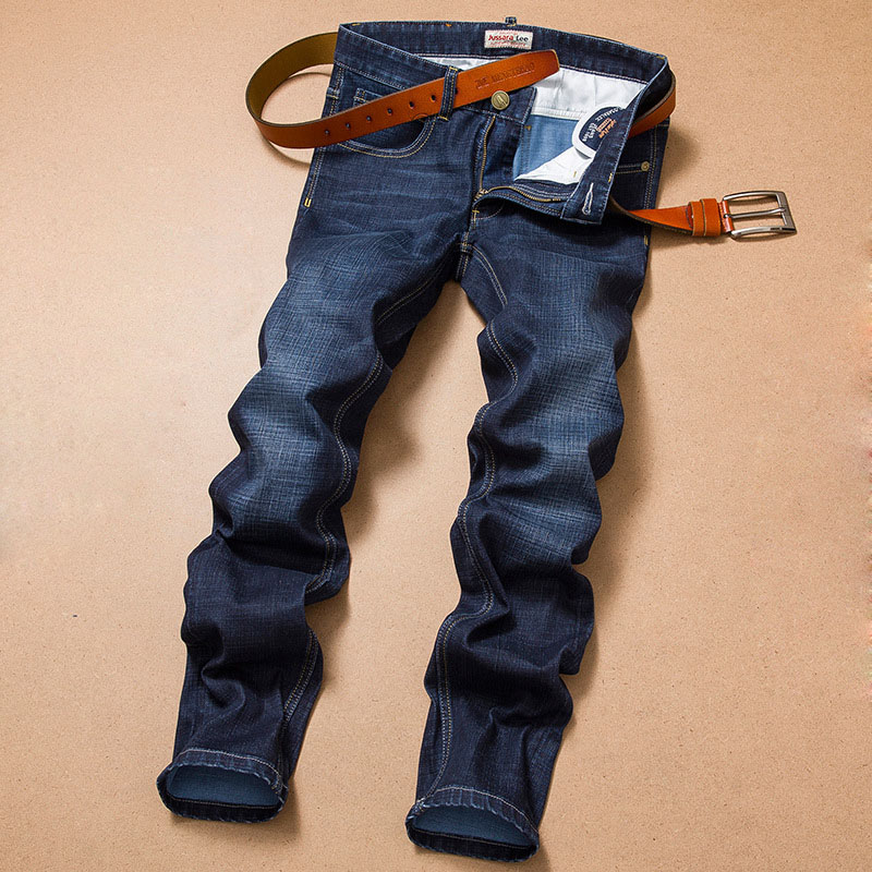 2016 Winter Autumn Mens Fashion Slim High Stretch Blue Denim Jeans for Men Big and Tall Size Large Plus 38 40 YC-2101Îäåæäà è àêñåññóàðû<br><br>