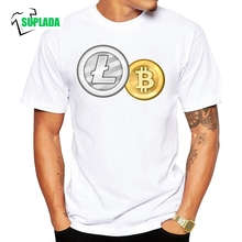 Buy Litecoin Bitcoin Gift Crew Neck T Shirt Cryptocurrency Short Sleeve T-Shirt Summer Style Men's 100% Cotton Big Size Tees for $9.90 in AliExpress store