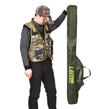 100cm/150cm Multi-purpose Fishing Bags Fishing Rod Bags Zipped Army green Fishing Tackle Bags Pouch Holder 420D oxford cloth