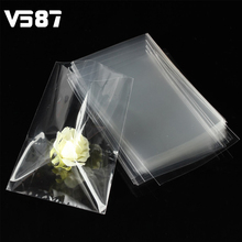 Clear Bags 100pcs Wedding Candy Gift Party Chocolate Lolipop Cellophane Cello Bag Marriage Celebration