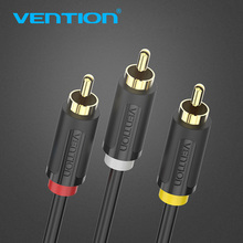 Vention 3 RCA To 3RCA Cable Gold Plated Male to Male AV Cable 1m 1.5m 2m RCA Connector Video Cable For STB DVD TV VCD Blueplayer