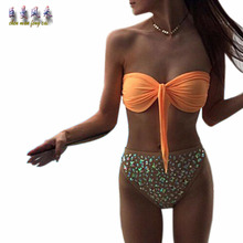 2017 Sex Women's Push Up Bodysuit Beach Trikini hot drill bra bang color Maillot De Bain Femme S/M/L/XL Chen man feng cai(China)