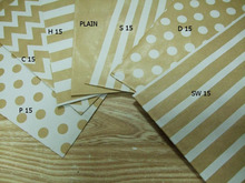 (20pack/240pcs) Kraft Brown Paper Bag choose dotty stripe chevronFavors and Packaging Gifts- 5 x 7 inch-any more 83 styles(China)