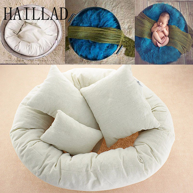 4pcs Newborn Photography Basket Filler Wheat Donut With Posing Props Baby Pillows for Photo Shoot Fotografia Beanie<br>