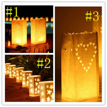 1200pcs/lot hot sale Luminarie Lantern Candle Bags for Wedding Party decorations(China)