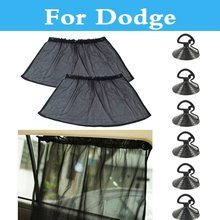 2X Car Side Window Curtain UV Protection Sunshade Suction Cup For Dodge Avenger Caliber Challenger Charger Dart Durango(China)